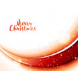 christmas card with abstract red wave and stars vector image