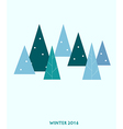 christmas tree over blue background vector image vector image