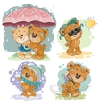 Clip art of teddy bear and different vector image