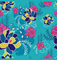 colorful hand drawn floral seamless background vector image vector image