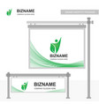 compnay banner design with green theme with vector image