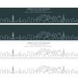 doha single line skyline banner vector image vector image