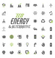 eco and alternative energy icon set energy vector image
