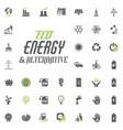 eco and alternative energy icon set energy vector image vector image