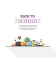 eduation concept in flat style vector image vector image
