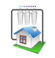 filtration of water in the house vector image vector image