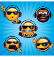 funny dj icons vector image