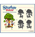 Game template for shadow matching children vector image vector image