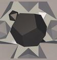 grey geometrical wallpaper vector image vector image