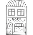 hand drawn old cafe vector image vector image