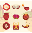 happy bhai dooj affection sister and brother vector image vector image