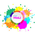 holi color background for festival of india vector image vector image