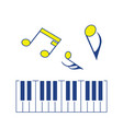 icon of piano keyboard vector image vector image