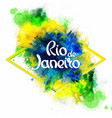 Inscription Rio de Janeiro on background vector image vector image