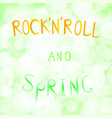 inscription rock n roll and vector image vector image