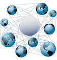 Join Earth worlds in your global network vector image