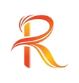 Letter R logo design template vector image