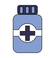medical bottle medicine pharmacy symbol vector image