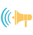 megaphone for making announcements and ads tool vector image