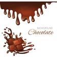 Milk chocolate bar and splashes vector image vector image