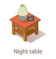 night table icon isometric style vector image vector image