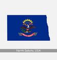 north dakota usa map flag vector image vector image