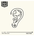 One icon Artificial ear vector image