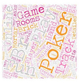 play for fun online poker 1 text background vector image vector image