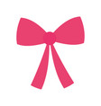 red bow decoration ribbon icon vector image