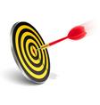red dart hitting target vector image vector image