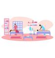 salon massage vector image vector image