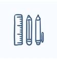School supplies sketch icon vector image vector image
