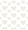 seamless pattern hand-stitched heart vector image