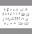 set of musical notes vector image vector image