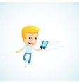 set of with funny cartoon casual character in vector image vector image