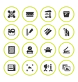 Set round icons of screen printing