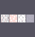 set winter seamless patterns with snow vector image