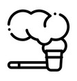 smoking pipe icon outline vector image vector image