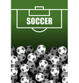 Soccer field and Ball Lot of balls football vector image vector image