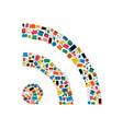 social media network wifi signal icon concept vector image