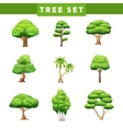 Tree Crowns Flat Icons Set vector image vector image