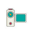video camera flat vector image