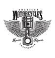 vintage monochrome motorcycle label vector image vector image