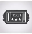 vintage ticket icon vector image vector image