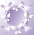 violet butterflies around the circle vector image