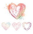 watercolor hearts vector image vector image