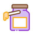 wax bottle icon outline vector image vector image
