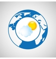 weather forecast globe icon graphic vector image