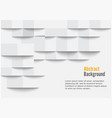 white geometric texture background can be used vector image