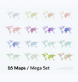 world map with sticks lines rounds vector image